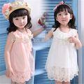 2014 meninas miúdos nova moda extravagante crianças desfile de moda vestidos de batismo vestidos da menina