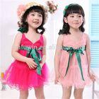 Nova cotton bowknot special children flower girl dress uk anarkali dress for girls
