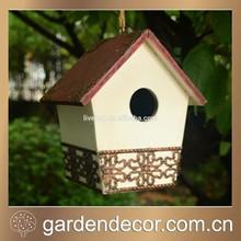 Wooden Bird House, Decorative Garden Birdhouses, Resin Bird House