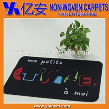 Black with words 45*75cm flooring carpet, indoor floor carpet, washable carpet
