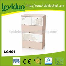 Eco-friendly customized plastic storage cabinet plastic 5 drawers