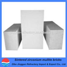 sintered zirconium mullite brick for glass furance