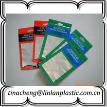 custom plastic zipper packaging bag for headset packaging