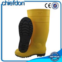 cheap PVC clear yellow unique rain boots for men