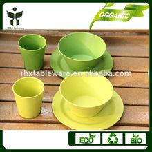 2014 hot sale bamboo fiber dinner set dinnerware set for promotion