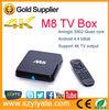 M8 high quanlity Amlogic S802 Quad core Android 4.4 TV Box M8 2G/8G Bluetooth 4.0 heng tv box hong kong