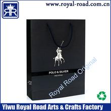 High-grade luxury Black Paper Shopping Bag