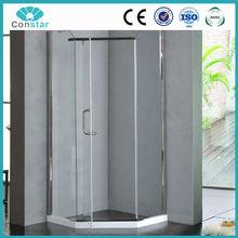 2015 latest design diamond shape 8mm thick glass shower enclosure