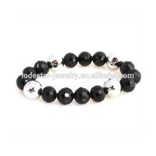 2014 New arrival fashionable design custom black beads handmade bracelet jewelry direct factory bulk sale prices LB3069