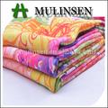 mulinsen المنسوجات عالية الجودة الساخنة تصميم سهل نسج الحرير الصناعي طباعة النسيج 30s تيشرت فتاة