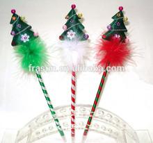 christmas tree pen/christmas feather pen/Novelty christmas feather tree pen