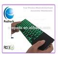 bluetooth teclado retroiluminado