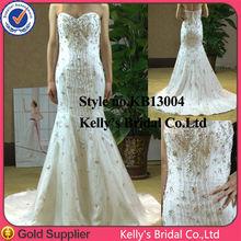 2015 new design mermaid more beaded bridal gown modern kebaya dress