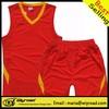 Low MOQ new basketball uniforms/red basketball shorts/custom team basketball uniforms