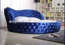 Blue Lover Elegant round bed AMG-BR03