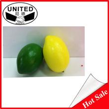 6.0cm artificial fruit lemon