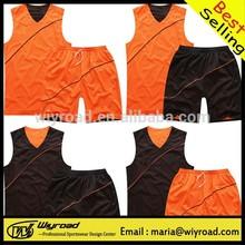 Low MOQ orange basketball uniforms,polyester basketball short,custom basketball short
