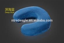 U-shape memory foam travel neck pillow