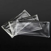 INTERWELL LWJ24 Transparent Pencil Case, Pencil Bag, Clear Plastic Pencil Case