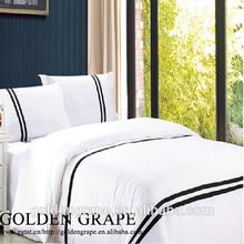 Hotel Minimalism simplism clean white/dyed/printed bedding comforter duvet cover set