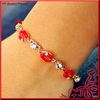Newest Crystal Paved Sexy Red Lip Link Bracelet
