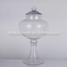 Clear hot selling glass food jar decorative glass herb storage jars