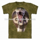Wholesale real animal printing 3d t shirts