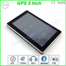 2014 DLS 5 inch Auto GPS navigation + 4GB built in memory +128RAM+800MHZ FREE MAP FM transitter +Wall Charger