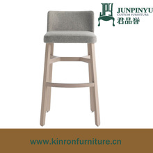 hot sale upholstery fabric wooden bar stool, square wooden stool, low back bar stool chair