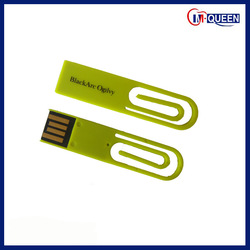 Plastic Book Clip USB Flash Drive OEM Multi-color Supply