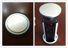 pop up tabletop socket box for modern kitchen system/pop up desk socket
