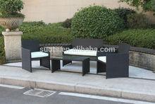 Promotion KD 4PCS Outdoor Garden Furniture Steel Rattan Sofa Set