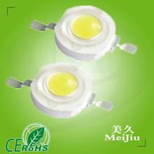 High Efficiency 3.0-3.4V 350mA 120-130LM/W Bridgelux 1W High Power LED 7w high power led lighting