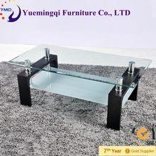 popular fashion living room furniture glass coffee table/modern glass tea table/coffee table aquarium