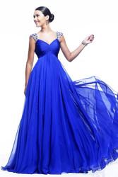 long beautiful chiffon evening dress