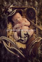 yeni stil tığ kovboy seti bebek giysileri