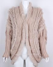 moda donna abbigliamento di lana lavorato a maglia cappotto