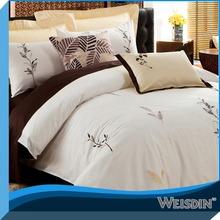100% cotton elegent leaf embroidery bedding set