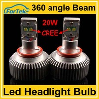 Dual size high power cree led headlight bulb H11 20W 4000LM 6000K
