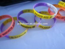 All kinds of team silicone bracelet / silk / 2014 World Cup bracelet / luminous / team bracelet / hot, 2014 New