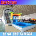 Gigante tobogán inflable para adultos, Grandes toboganes para la venta, Inflable antideslizante y piscina con tobogán