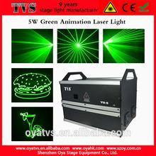 powerful DJ equipment green laser 5000mw for sale