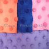 Oeko Tex 100 passed minky dot fabrics for baby diaper baby sofa baby garment baby blanket