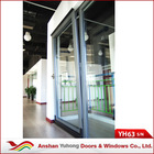 Modern design single glass Tilt-in sliding Termal break Aluminum alloy doors
