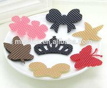 various cartoon magic hair sticker clip velcro hair fringe holder lovely polka dot posted magic hair accessories promotion gift