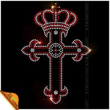 Faith and power logo iron on rhinestone transfer cross