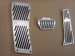 pedal set aluminum car foot pedal rubber brake pedal pad fit for e60
