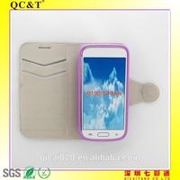 New fashion TPU stitching leather case For Samsung Galaxy S4 MINI/I9190