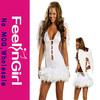 wholesale sleeveless cheap fashion white angel wings costume