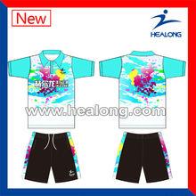 Colorful sublimation 100%polyester bowling uniform